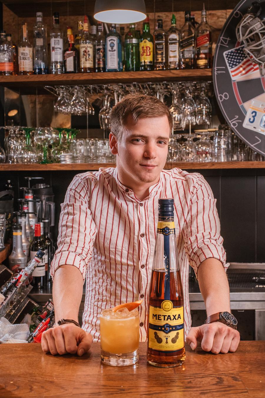 Ateista - Metaxa, naranča, limun, tonka sirup